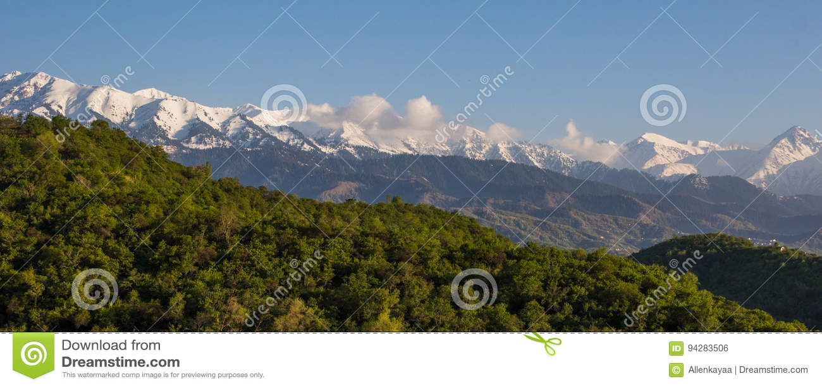 Berg landskap, Tien-Shan Mountains, Almaty, Kasakhstan