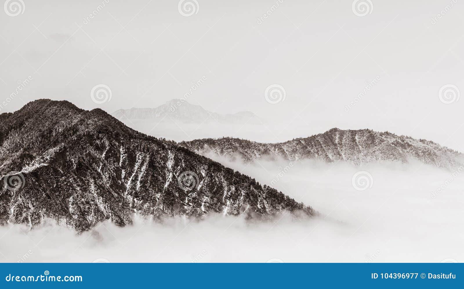 Berg med retro stil
