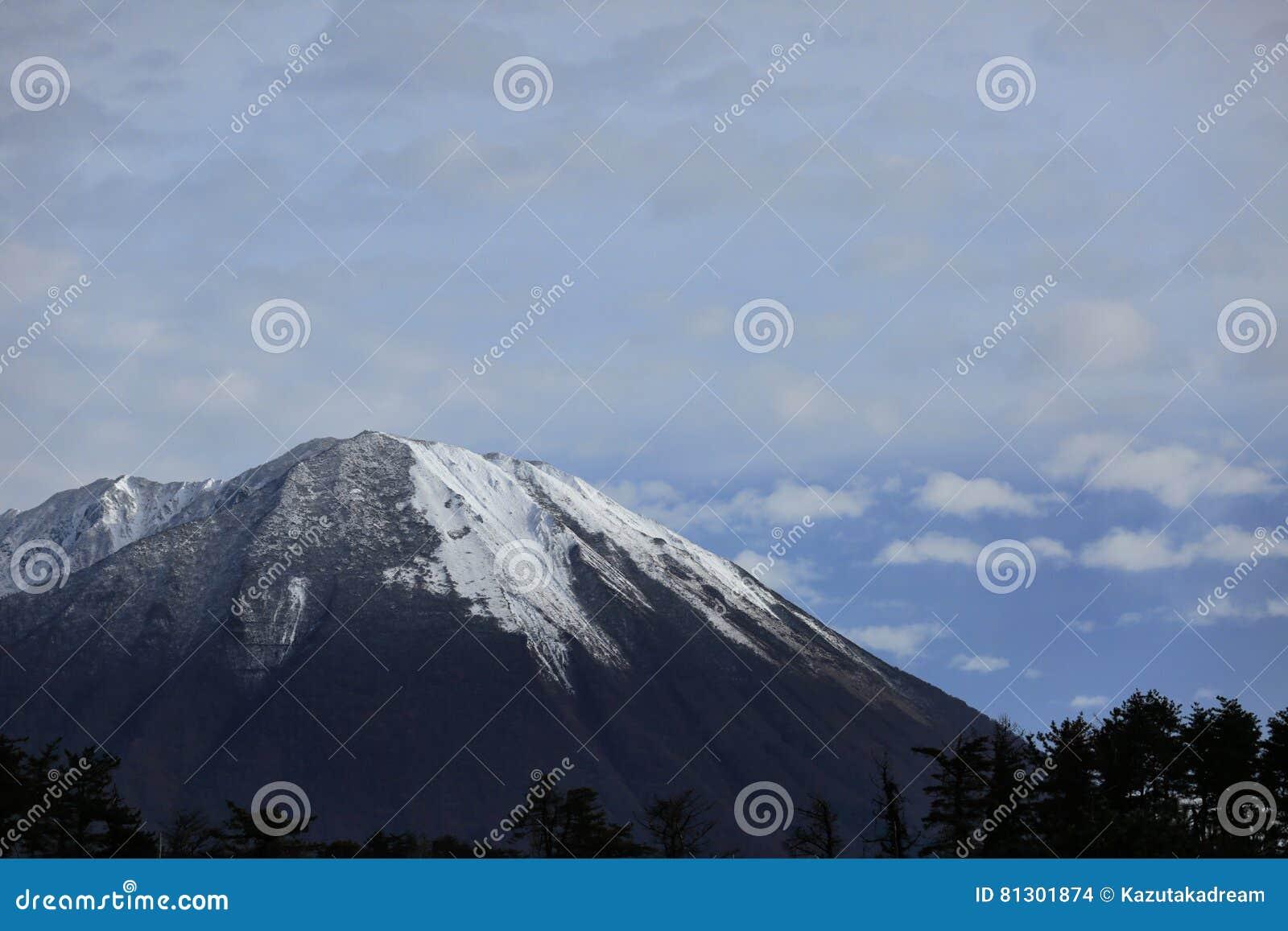 Berg med snön