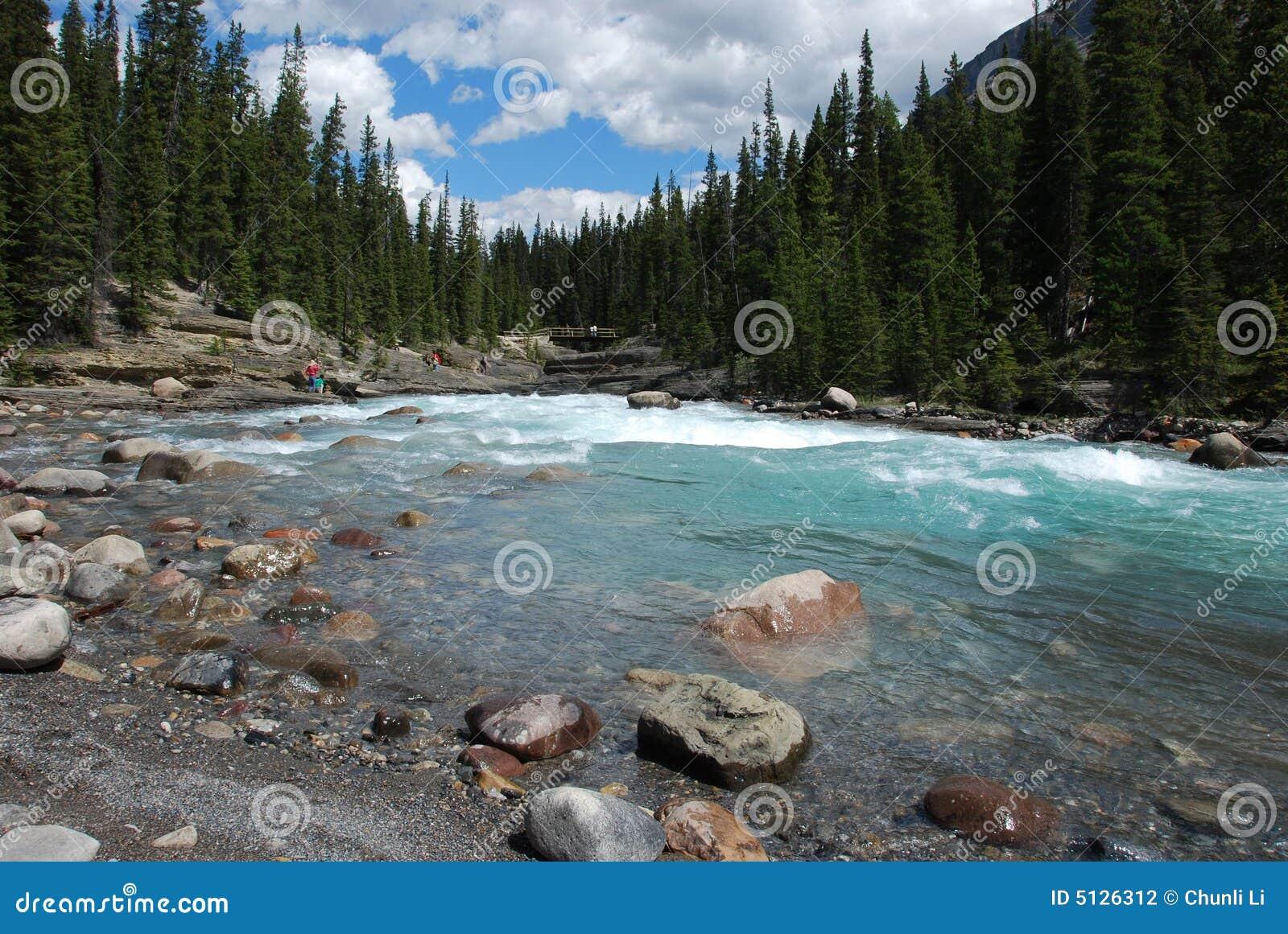 Berg und Flüsse