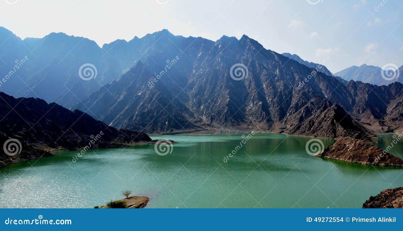 Berg und Verdammung Hatta in UAE