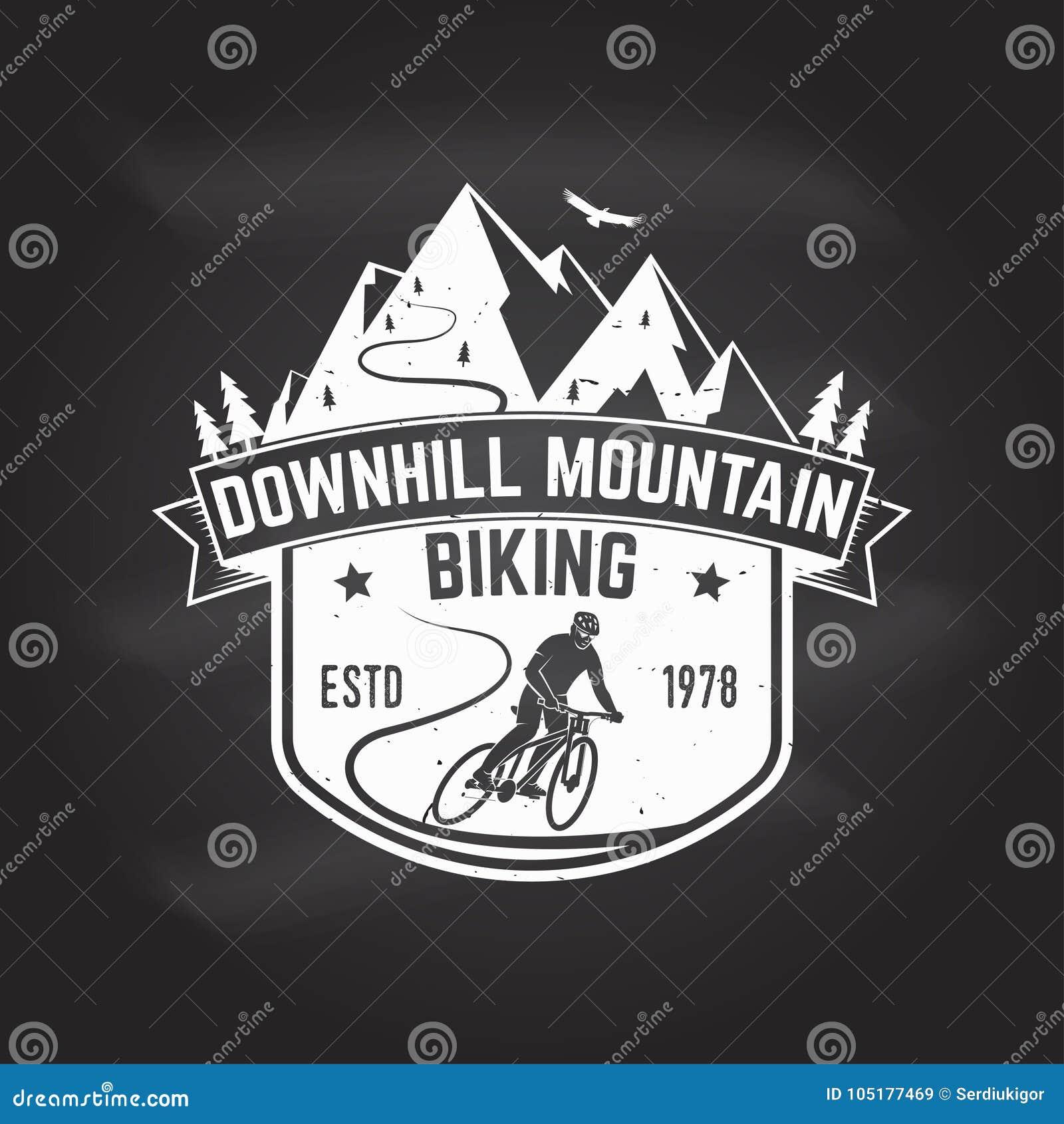 Bergaf berg het biking Vector illustratie