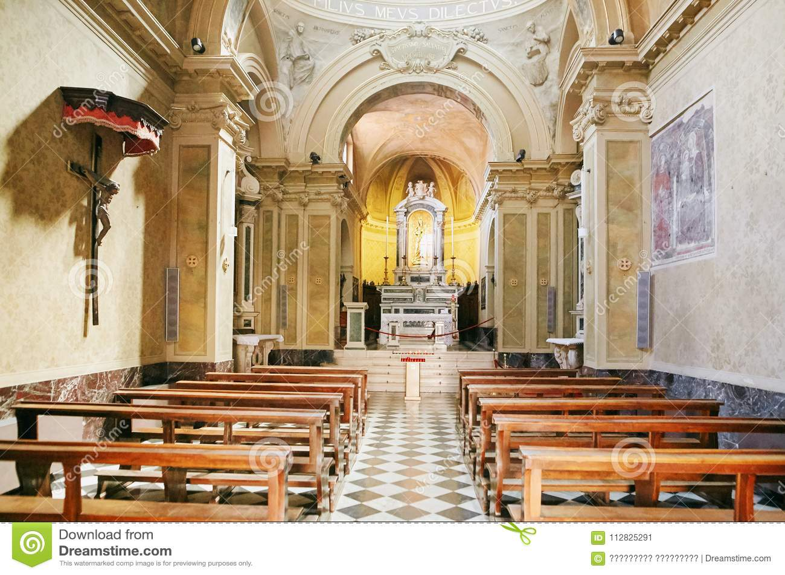 Amazing bergamo italy august interior of the cathedral duomo of bergamo and the baptistery with - Interior design bergamo ...