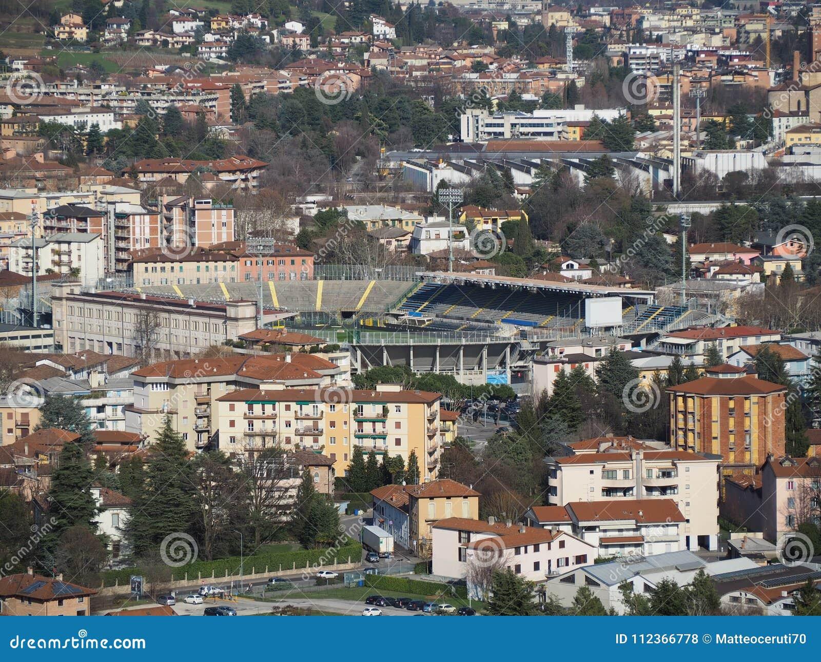 Bergamo, Italy. The Football Stadium Where Atalanta Plays ...