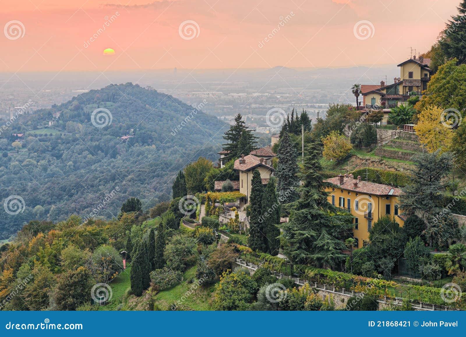 Bergamo wieś Europe Italy Lombardy