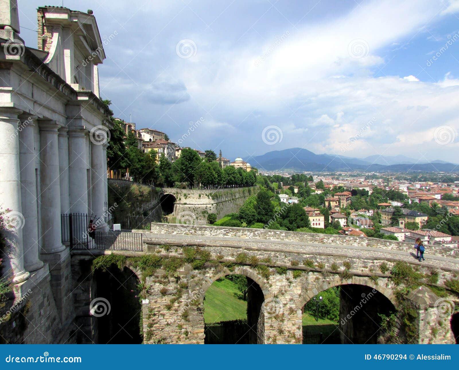 Bergamo Wysoki miasto