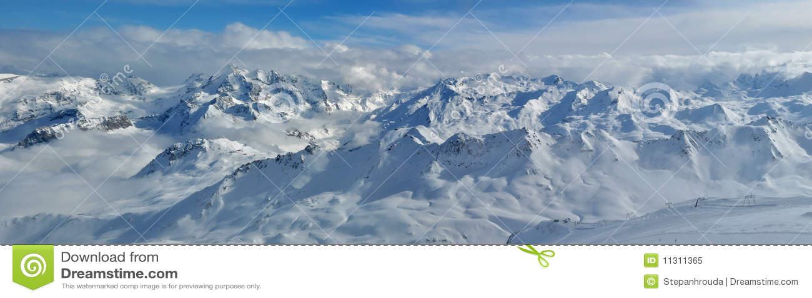 Berge (Alpen) - Panorama