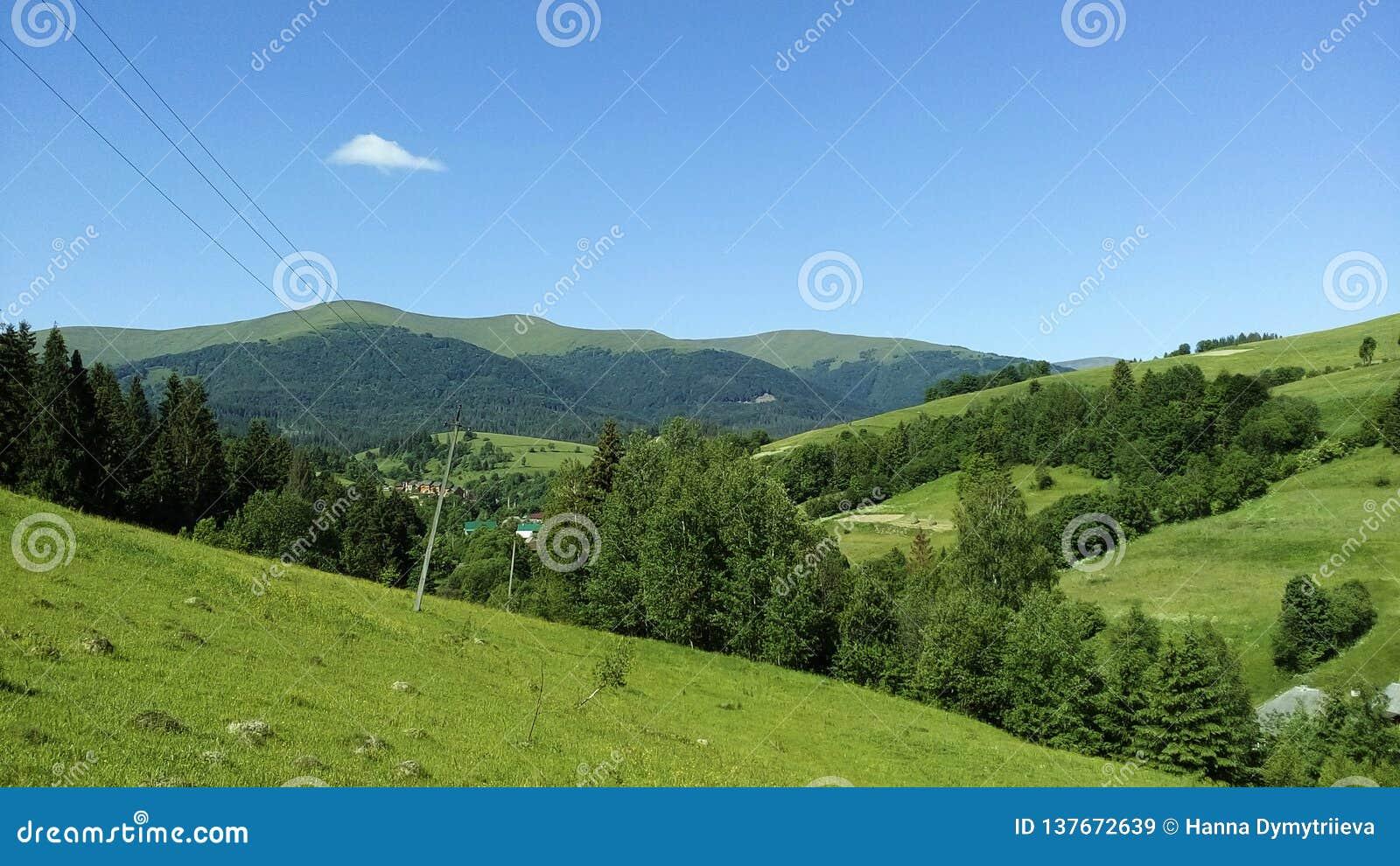 Berge an einem sonnigen Tag