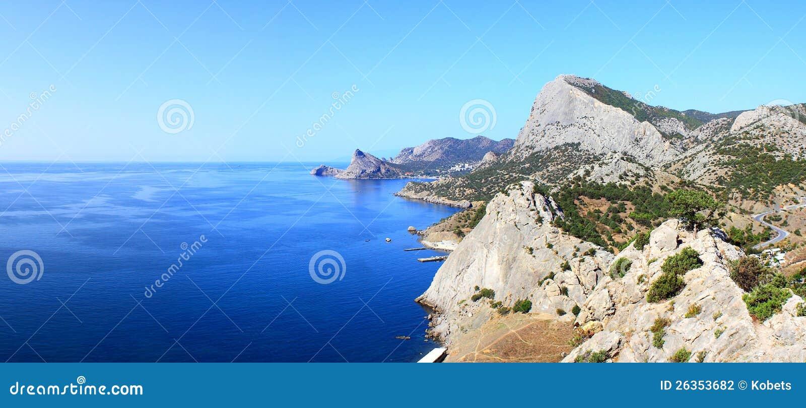 Berge u. Seelandschaft