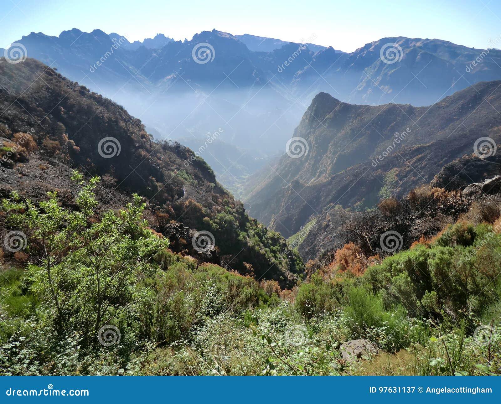 Berge um Nonnen Tal, Madeira