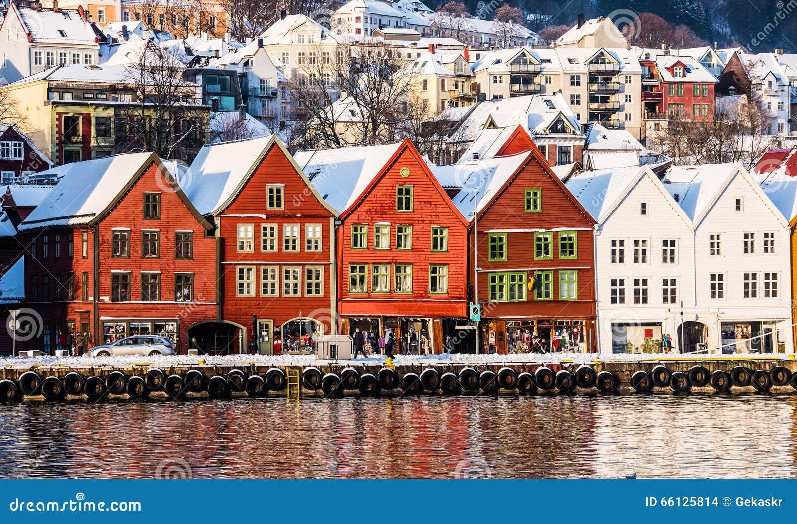 Bergen At Christmas Stock Photo - Image: 66125814