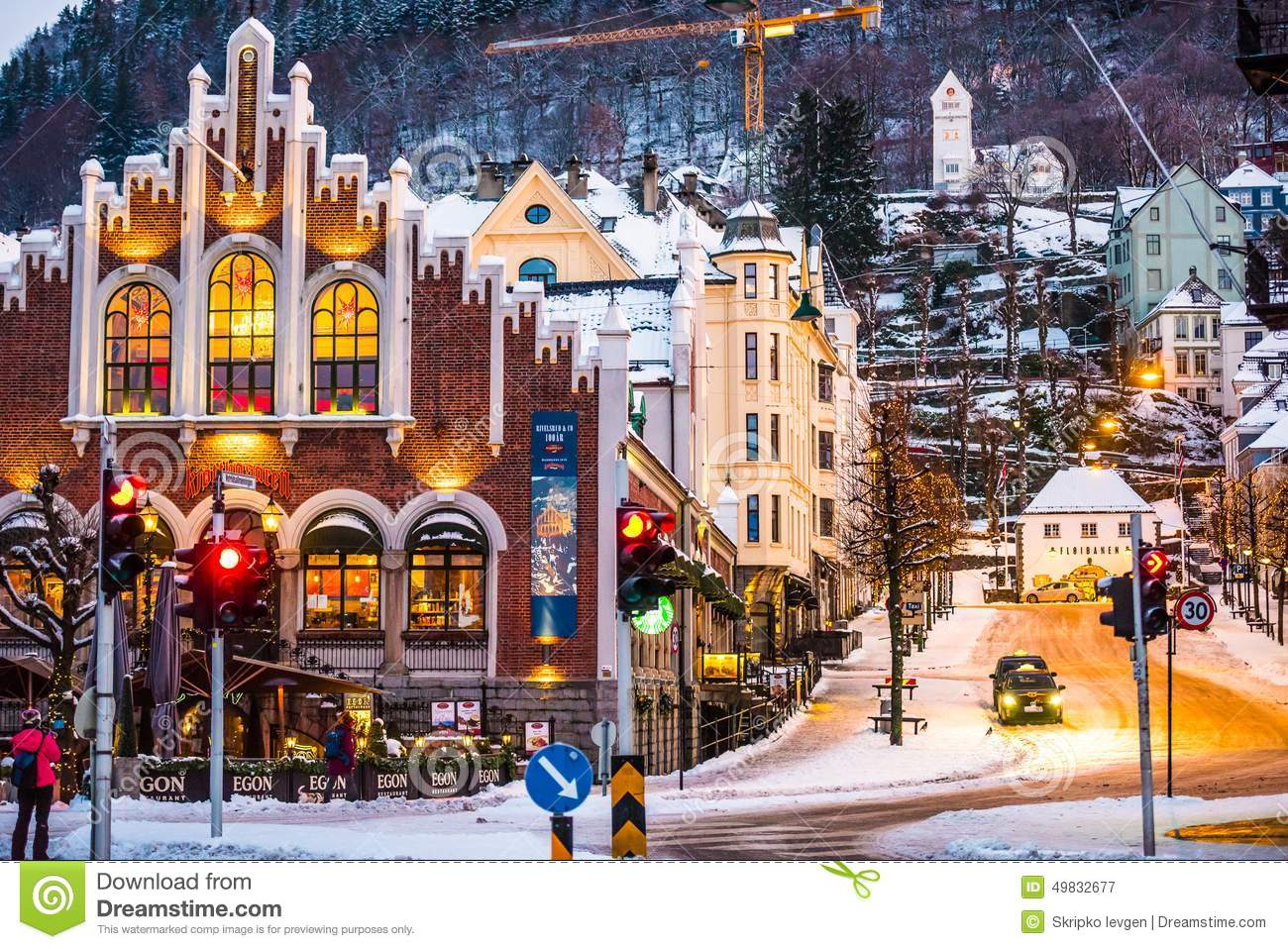 Bergen At Christmas Editorial Photography - Image: 49832677