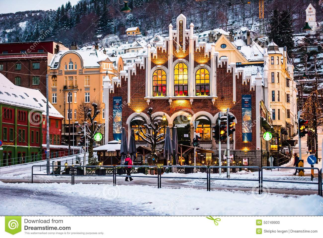Bergen at Christmas editorial image. Image of travel ...