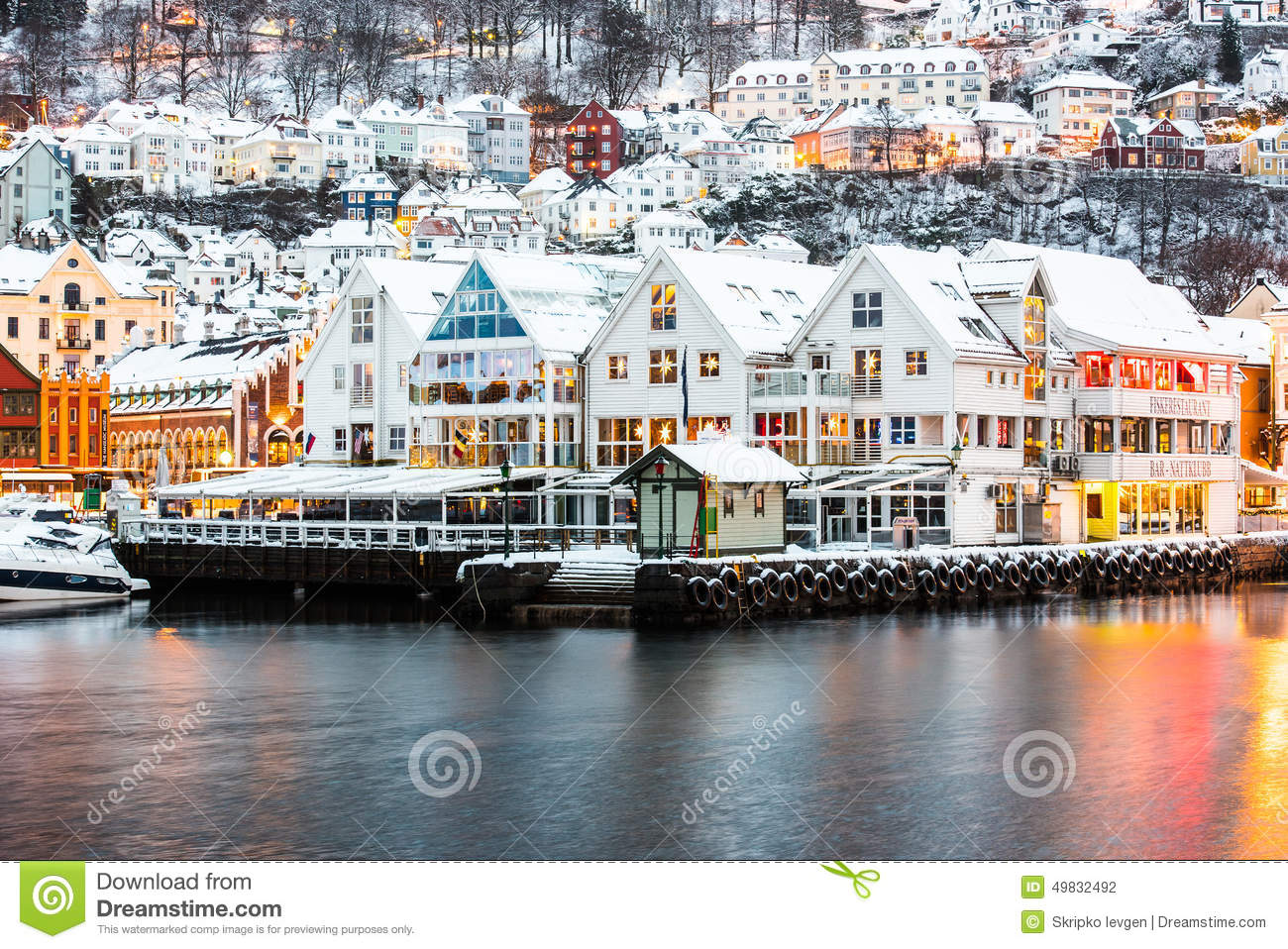 Bergen At Christmas Editorial Photography - Image: 49832492