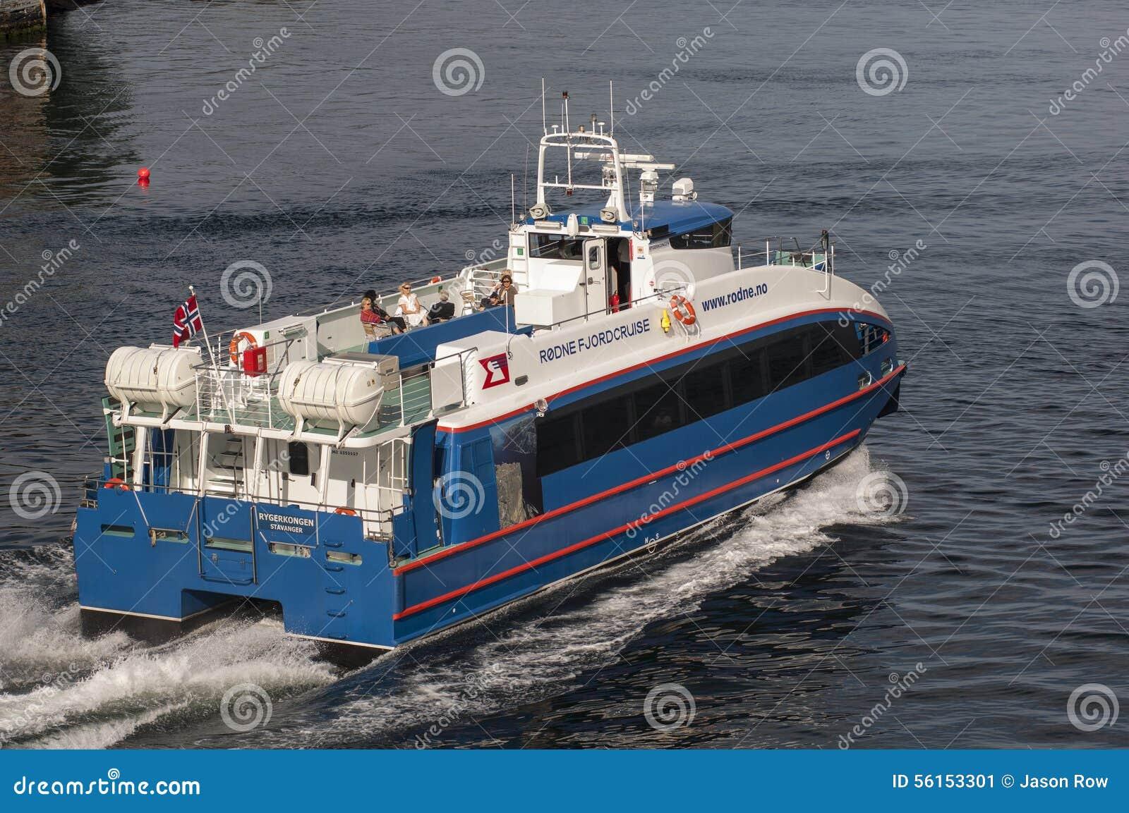 BERGEN/NORWAY - 21 giugno 2007 le foglie del traghetto di Rodne Fjordcruise sono
