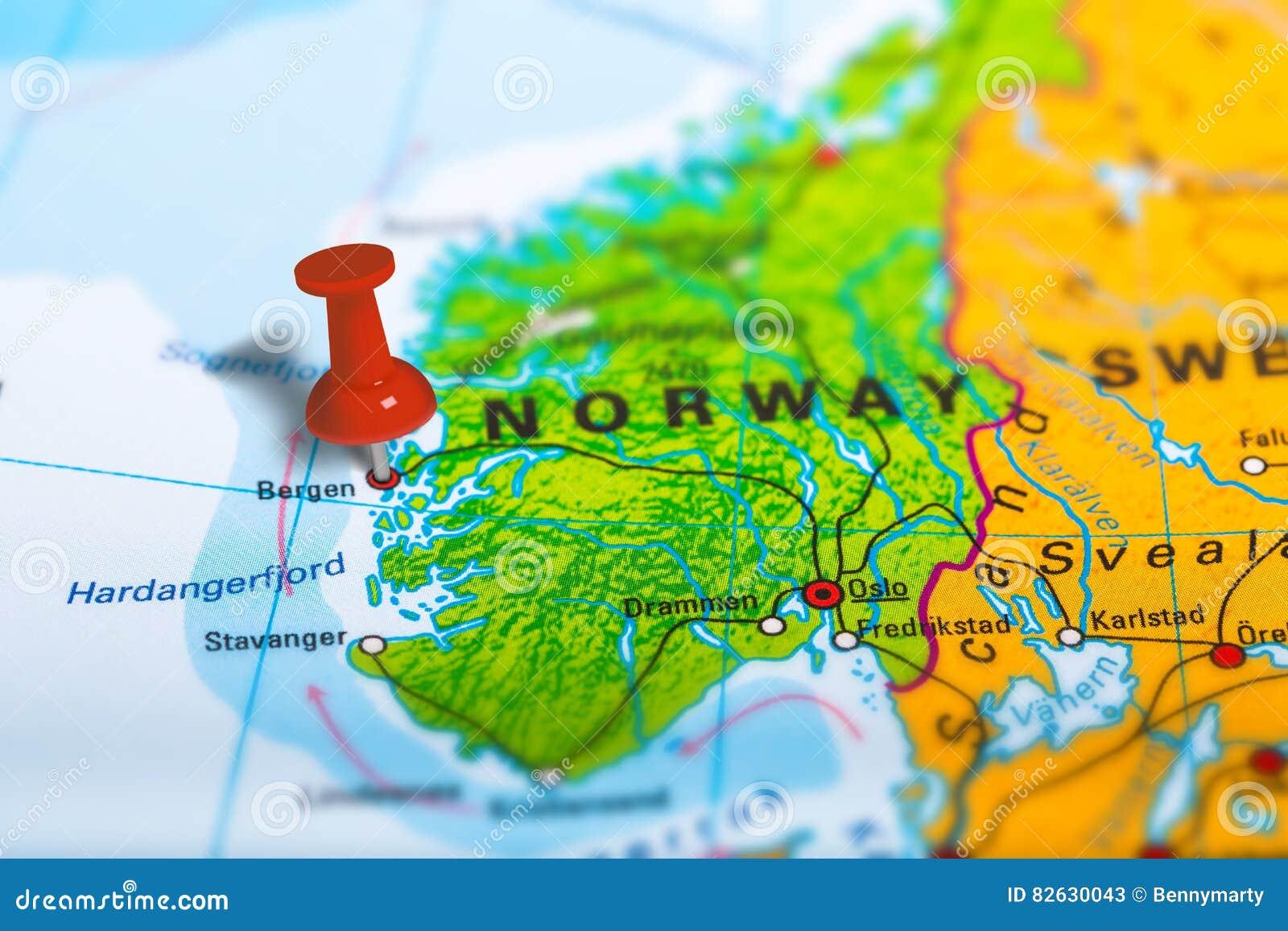 Bergen Norway Map Stock Photo Image - Norway map free download