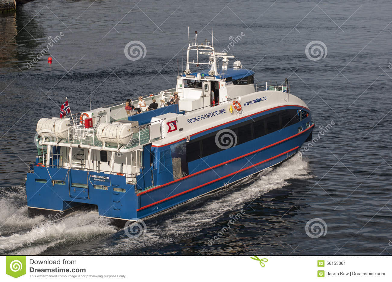 BERGEN/NORWAY - 21ST de de veerbootbladeren van Rodne Fjordcruise van JUNI 2007 zijn
