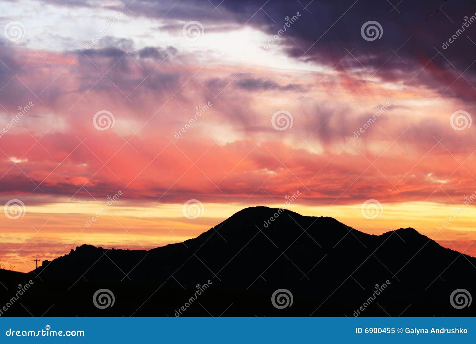 Bergen op zonsondergang