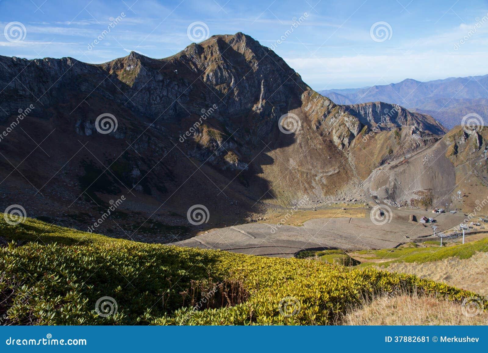 Bergen van Krasnaya Polyana (Sotchi, Rusland)