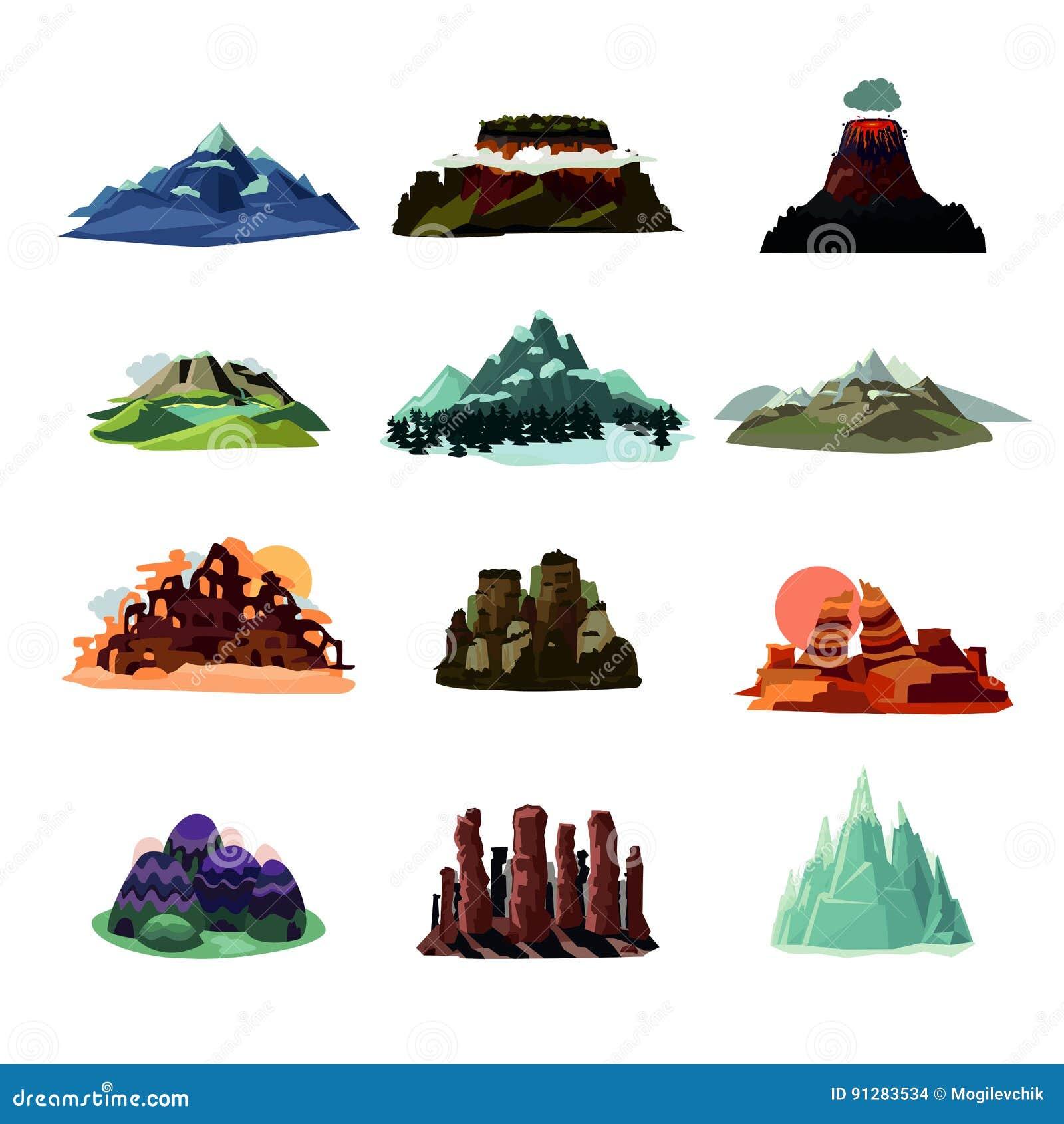 Berget landskap samlingen