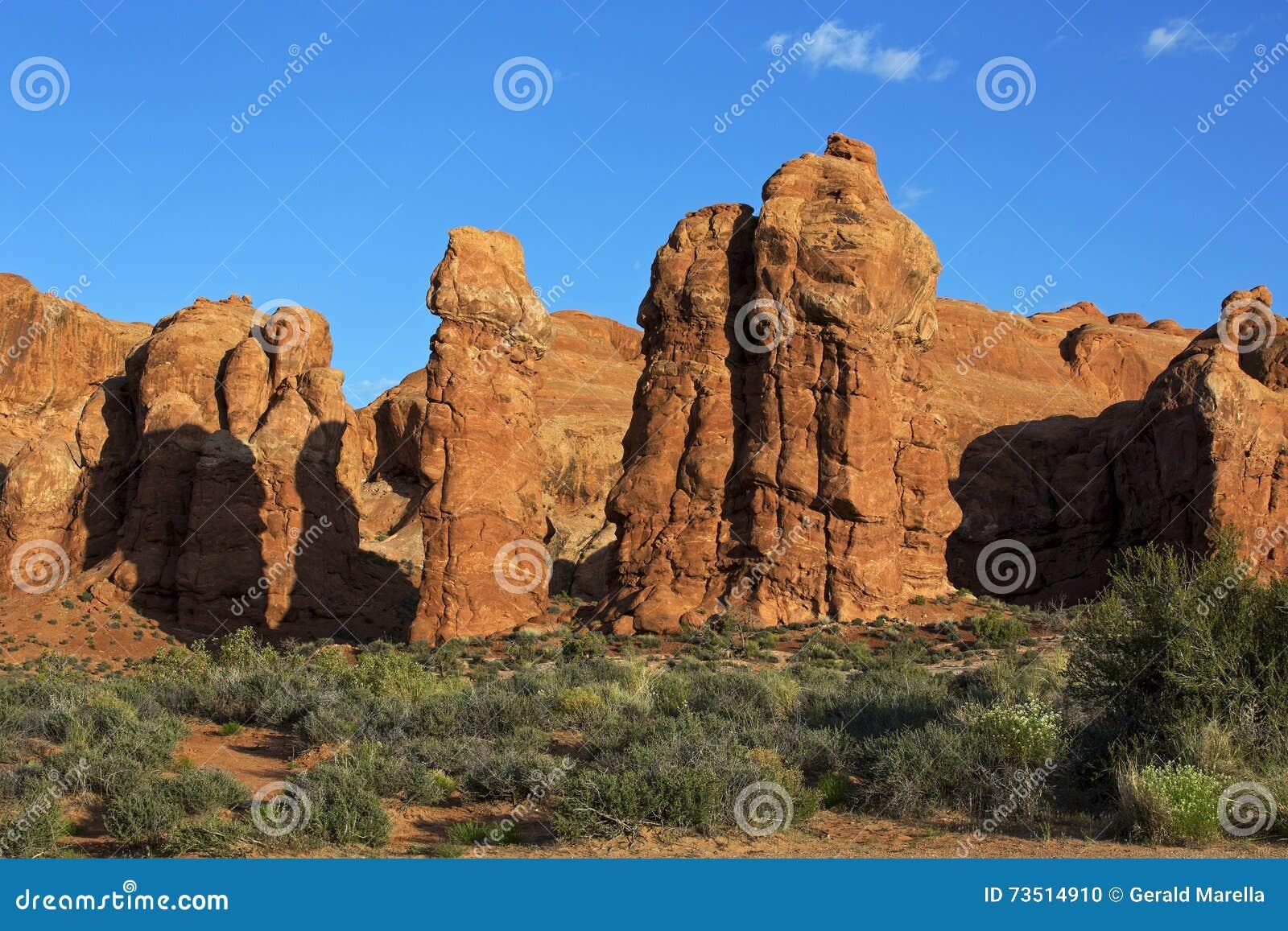 Berggipfel, Bögen Nationalpark, Moab Utah