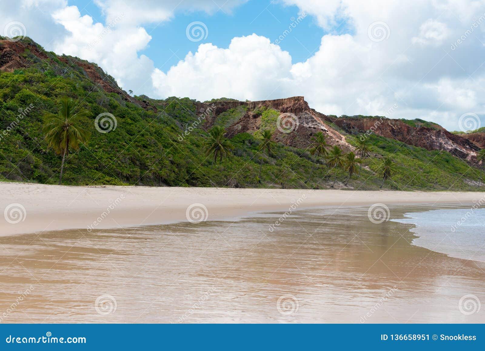 Bergige brasilianische Küstenlinie