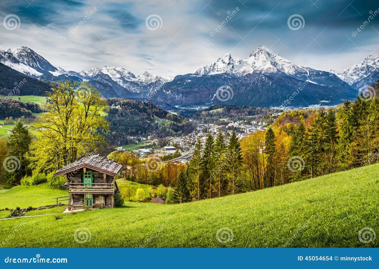 berglandschaft in den bayerischen alpen land nationalpark
