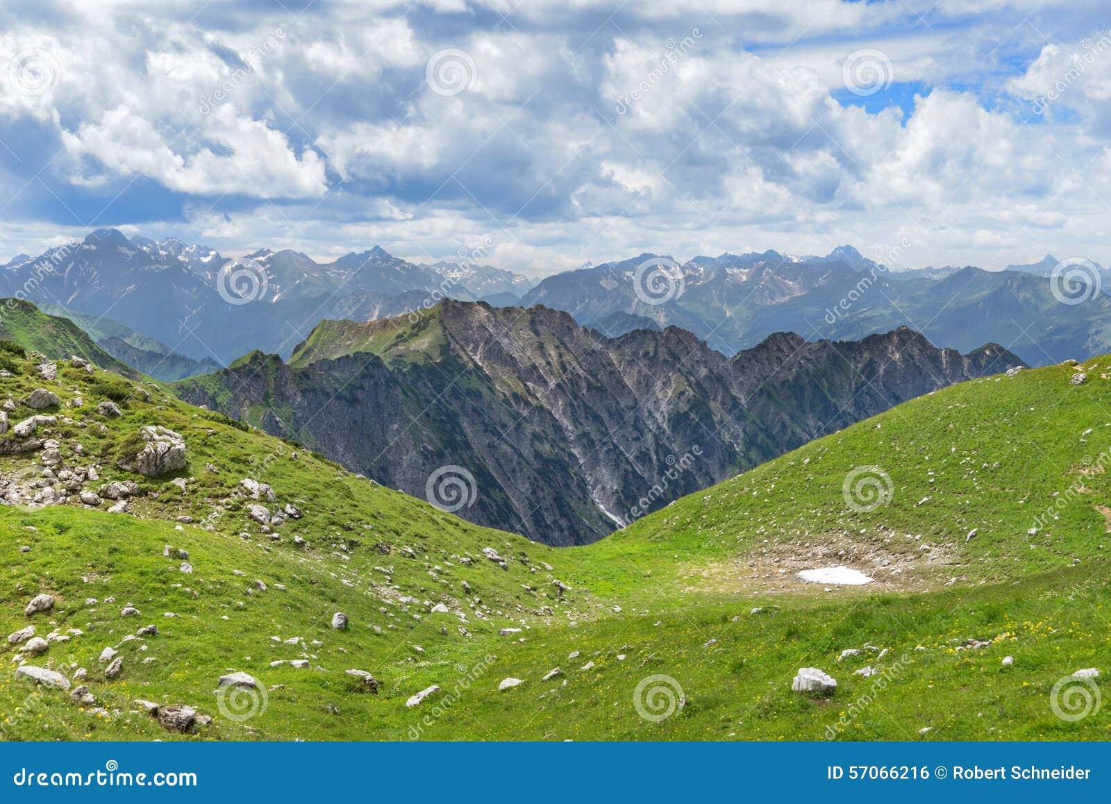 Berglandschap in de vroege zomer