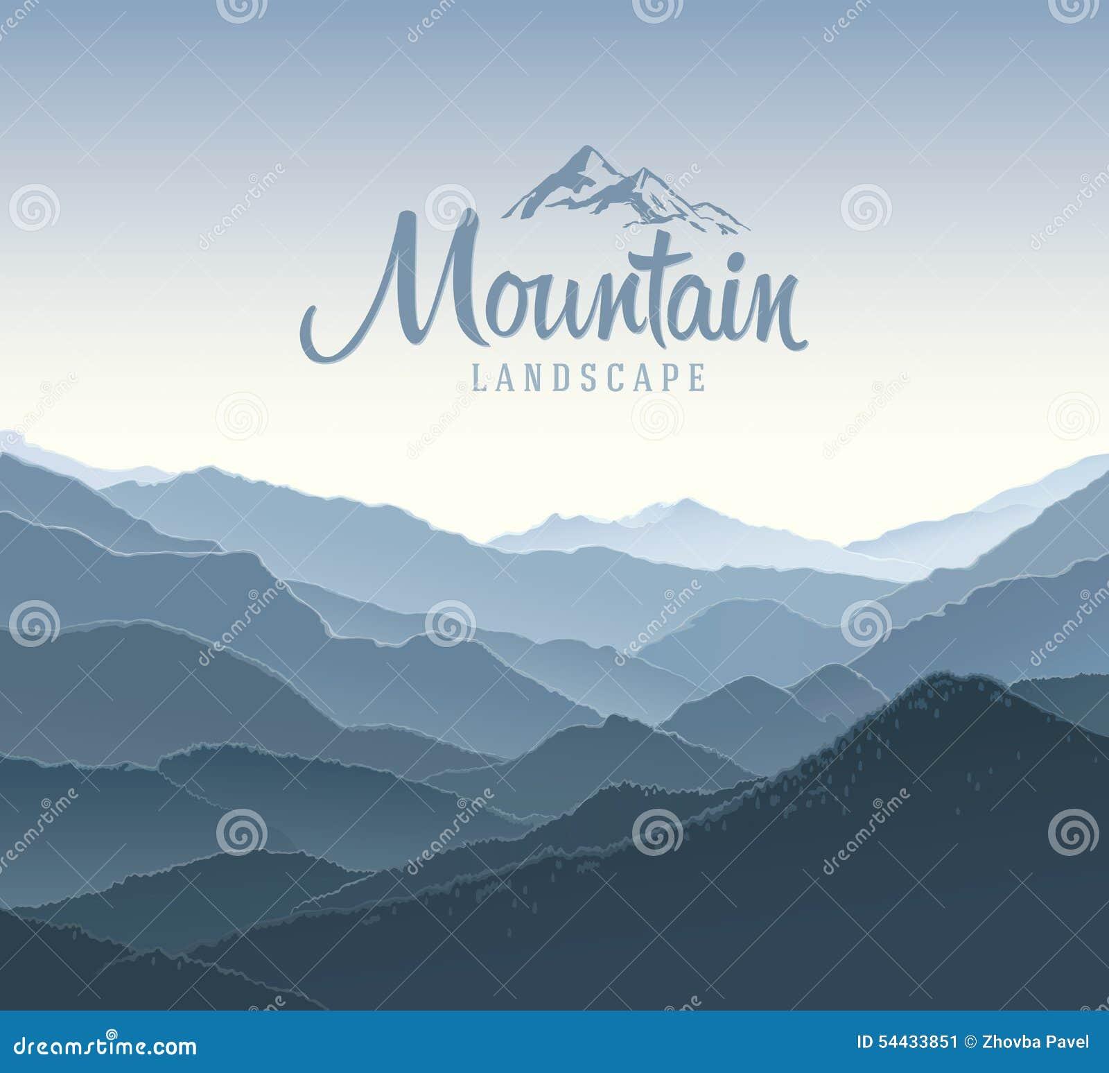Berglandskap och beståndsdellogo