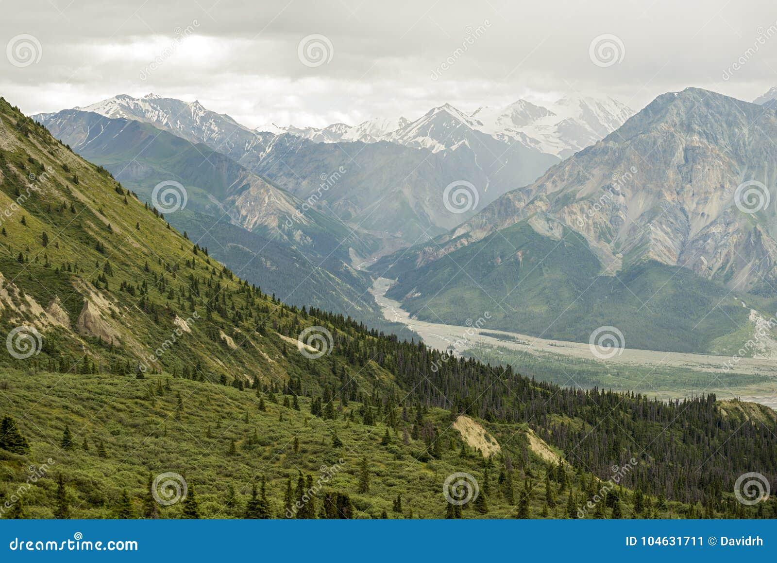 Download Bergmening Van De Sleep Van De Schapenkreek In Het Nationale Park Van Klaune Stock Afbeelding - Afbeelding bestaande uit wandeling, berg: 104631711