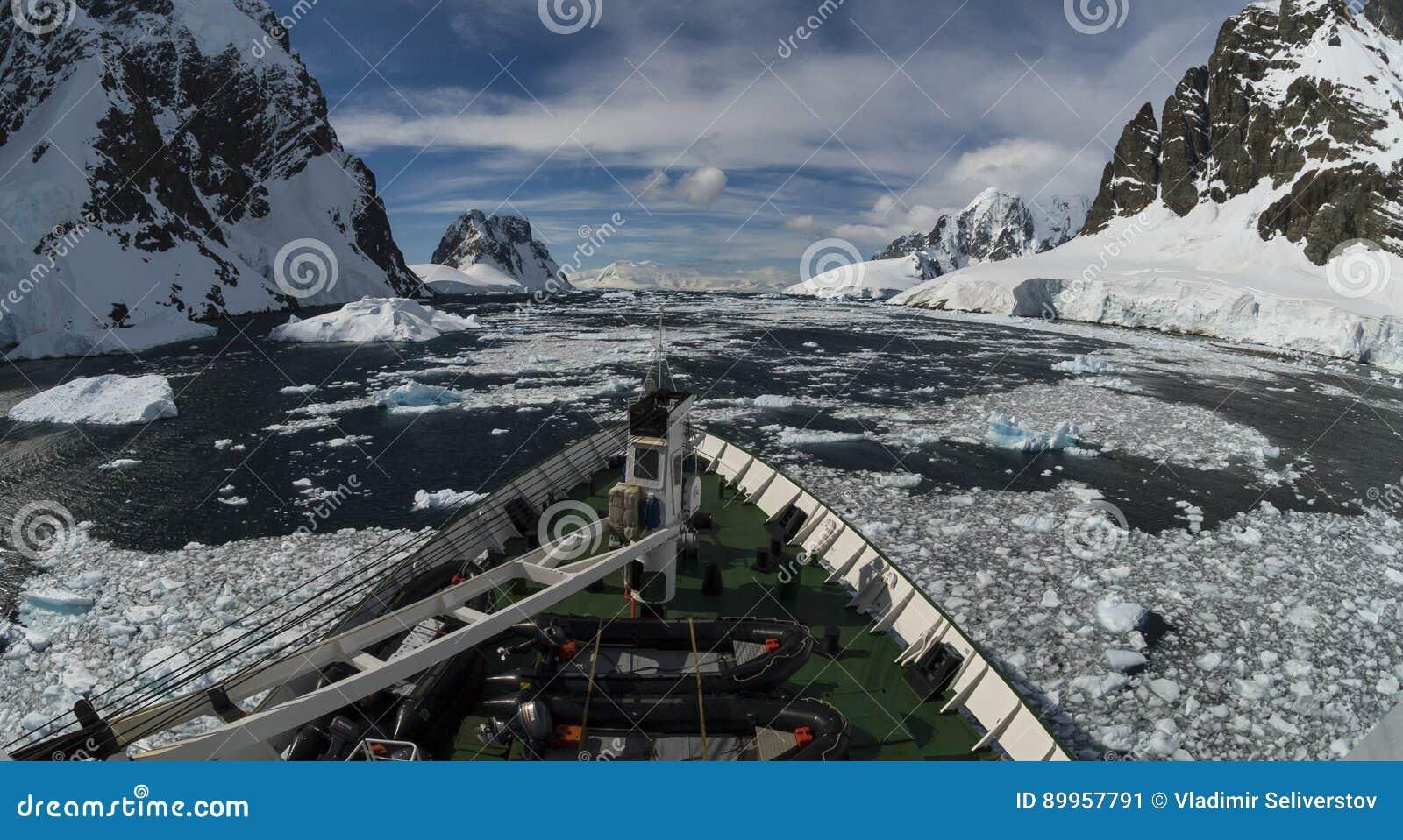 Bergsikt i Antarktis