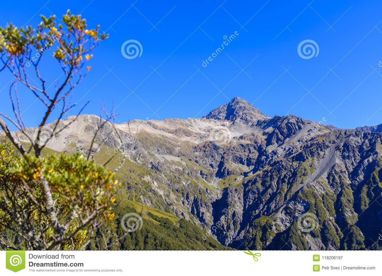 Bergskedja runt om det Arthurs passerandet