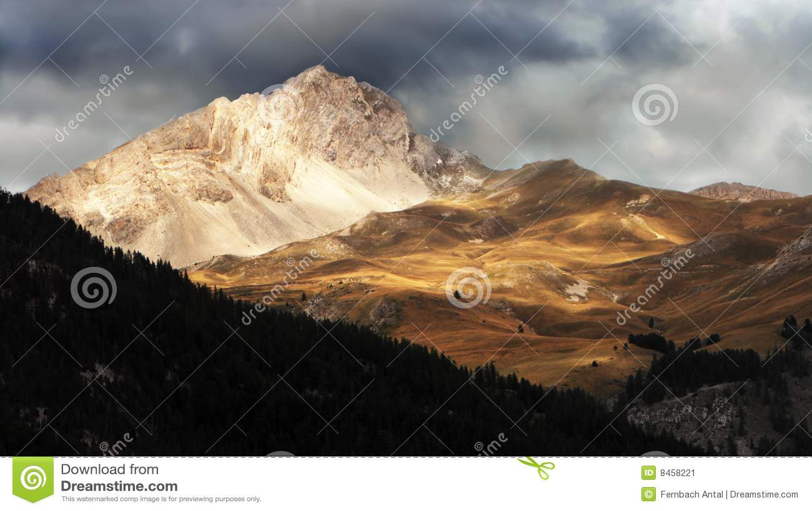 Bergsolnedgång