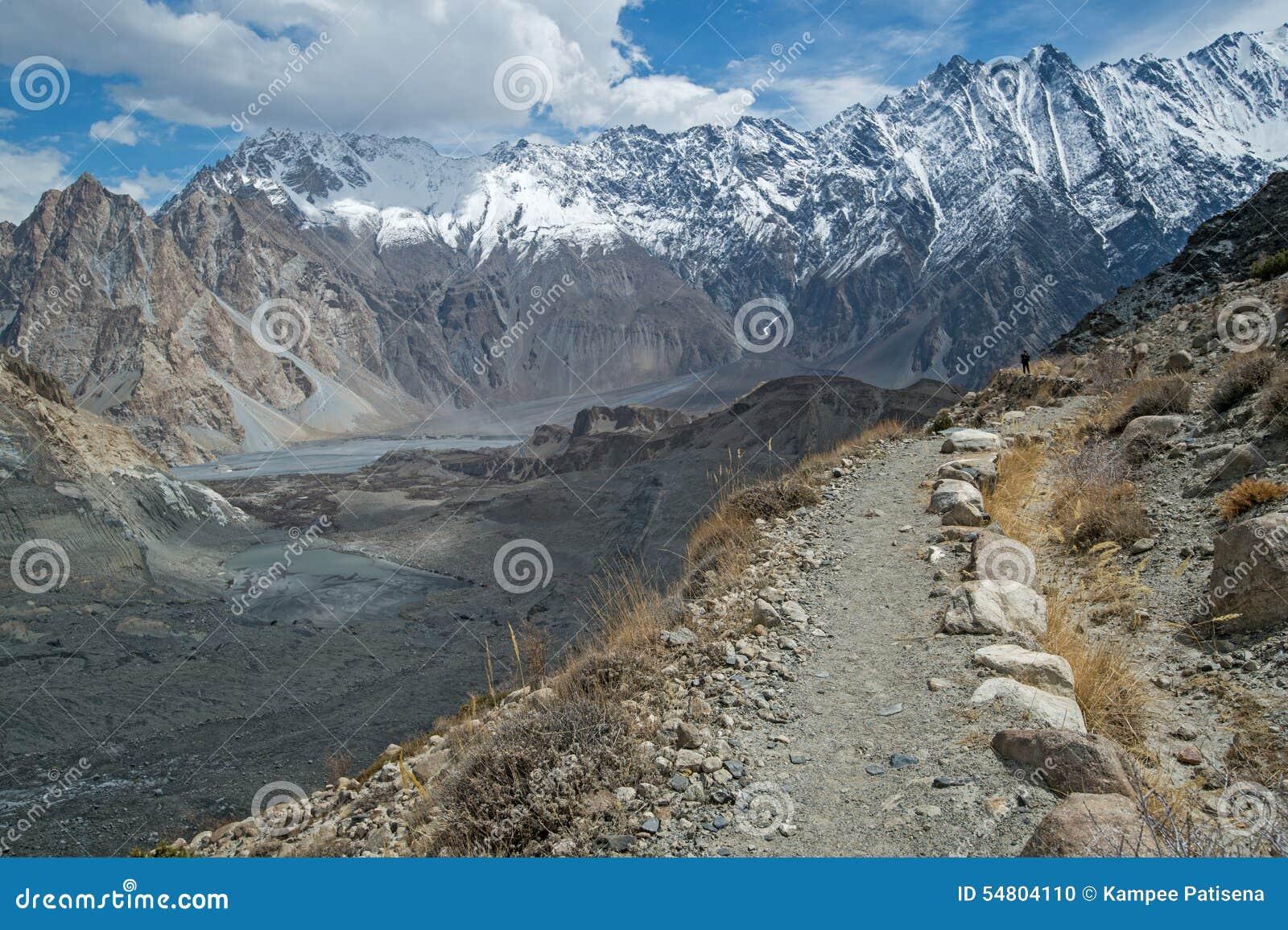 Bergspitze auf dem Weg zu passu Gletscher, Hunza-Tal, Norther