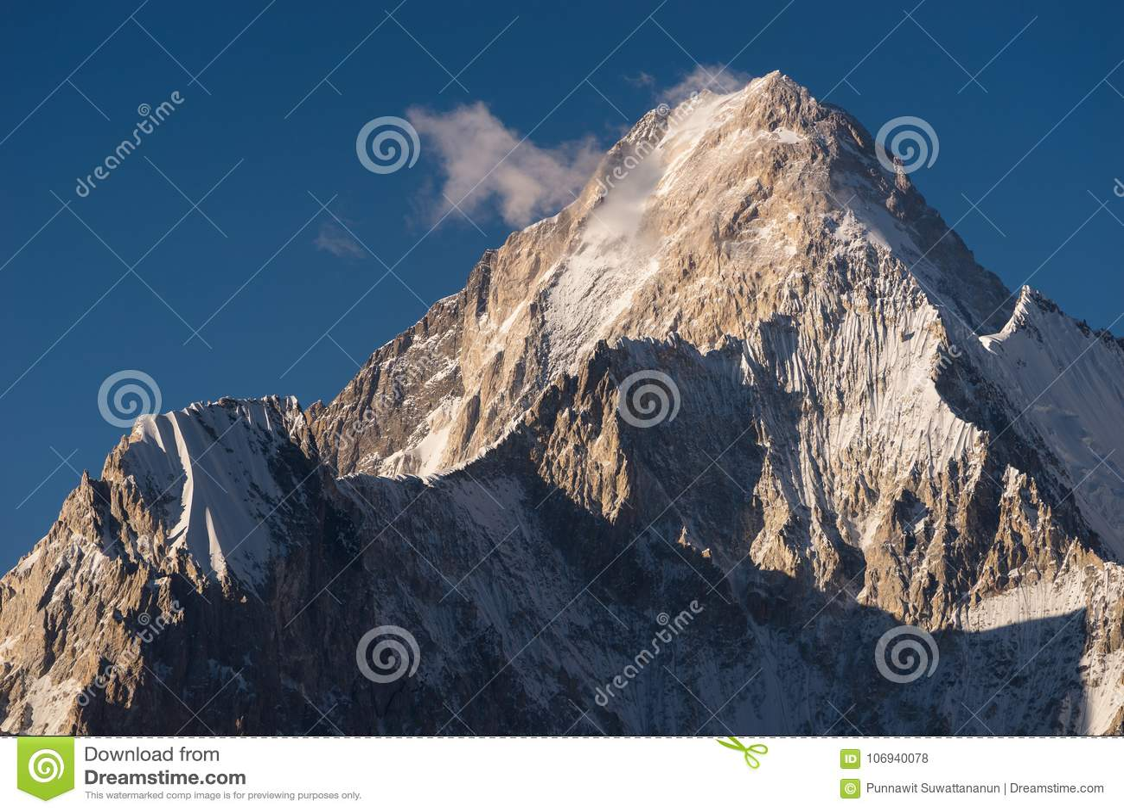 Bergspitze Gasherbrum 4, K2 Wanderung, Karakoram, Pakistan