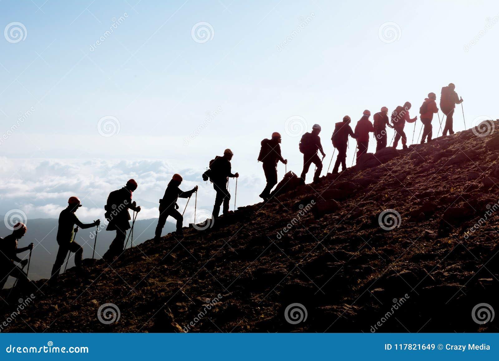 Bergsteigentätigkeit und kompatibles Team