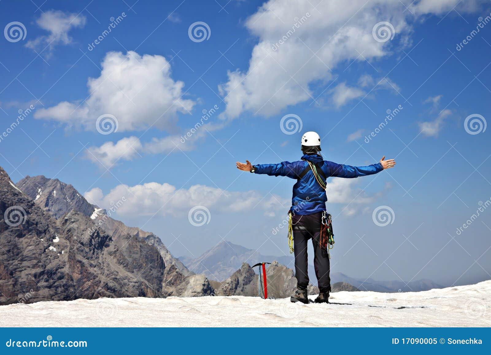 Bergsteiger in den Bergen