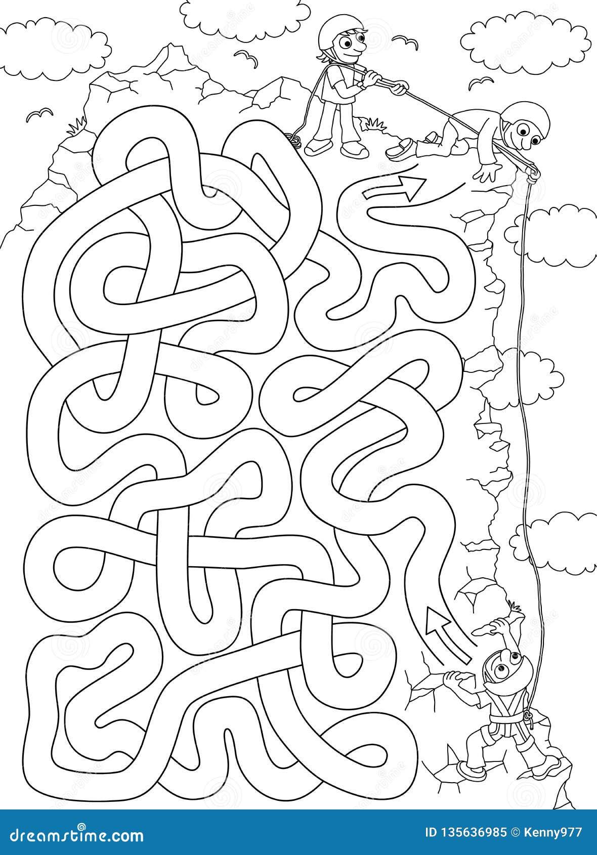 Bergsteiger - Labyrinth für Kinder