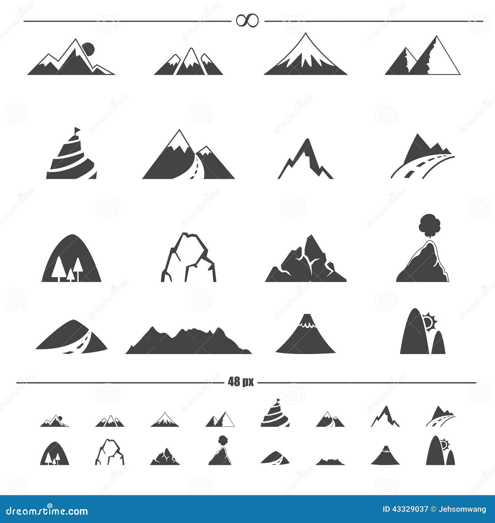 Bergsymbolsvektor