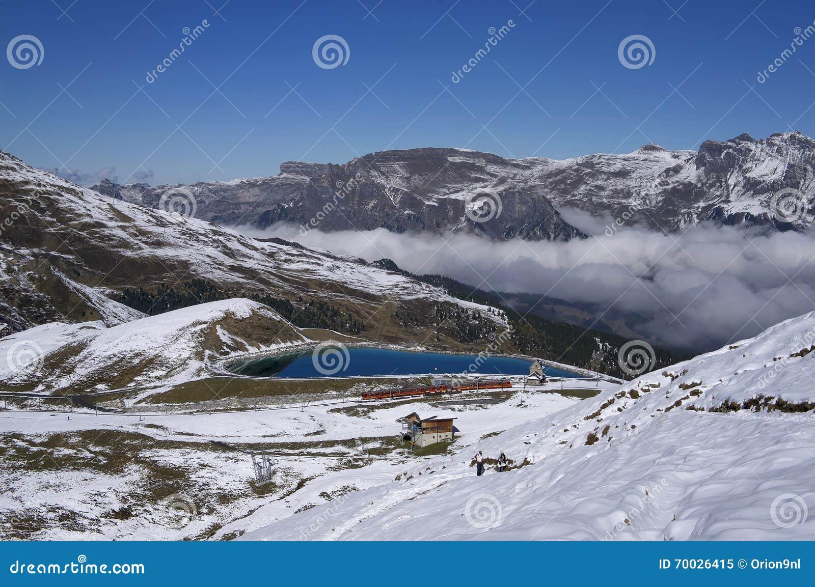 Bergtrein in Jungfrau-gebied (Zwitserland)
