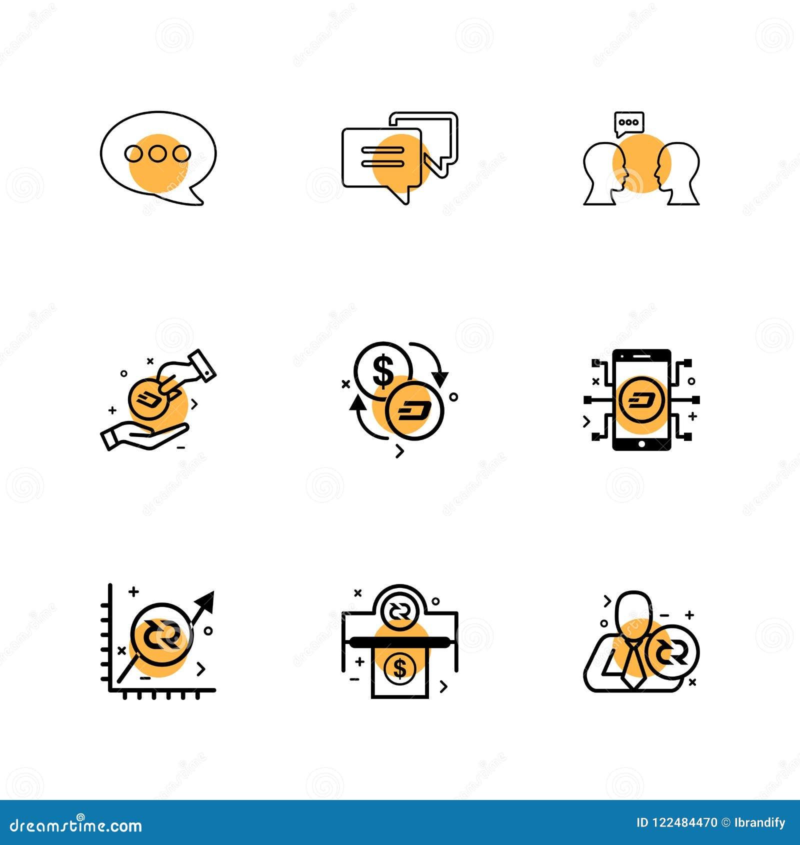Bericht, praatje, mobiel gesprek, munt, grafiek, geld