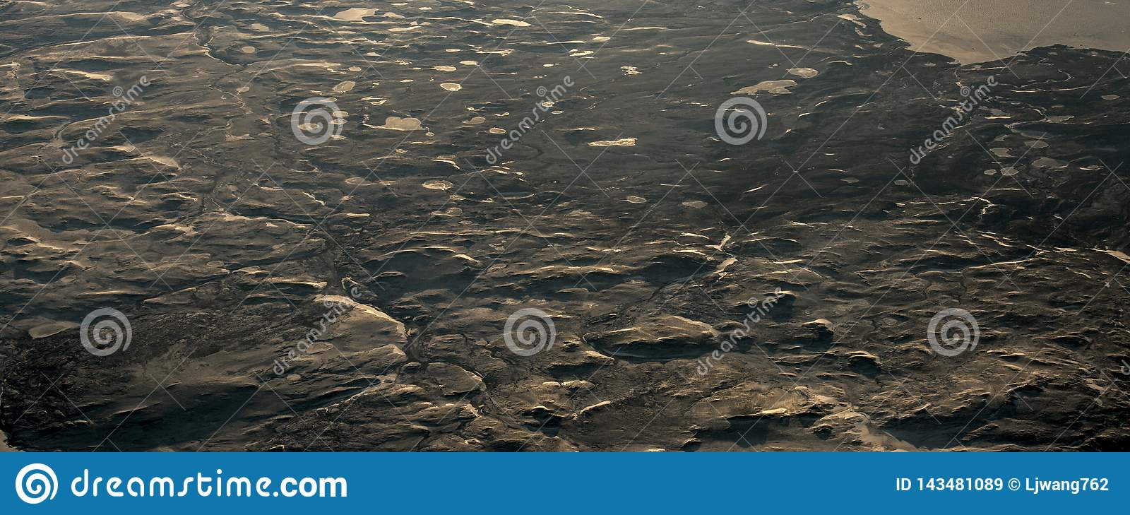 15Take an aerial view of the ice and sunrise over the bering strait.(1)