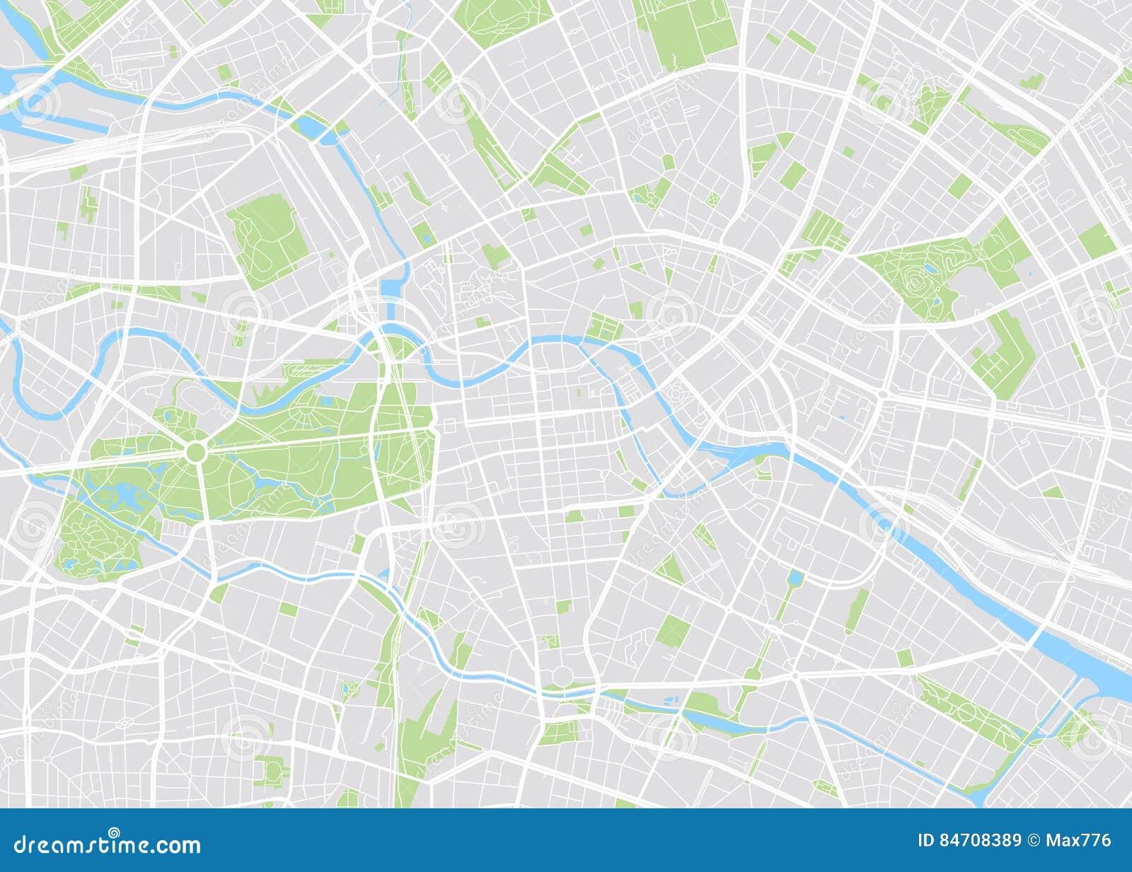 Berlín coloreó el mapa del vector