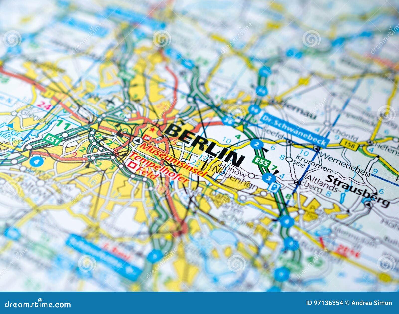Berlín en mapa