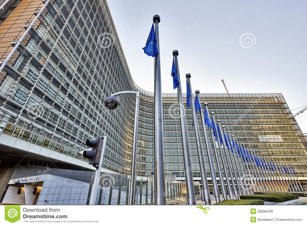 The berlaymont building anf flags editorial image image 35896430 - European commission office ...