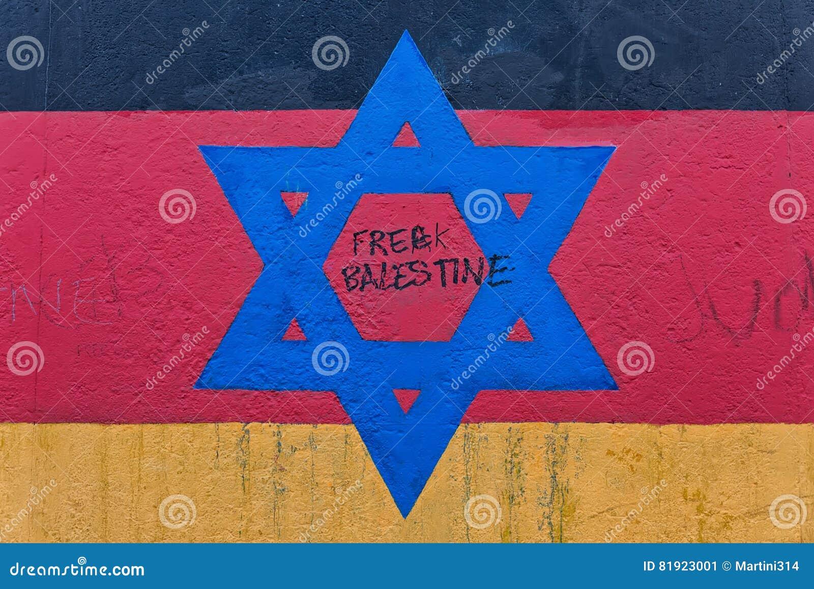 BERLIJN, DUITSLAND - JULI 2015: Berlin Wall-graffiti op 2 wordt gezien JULI dat