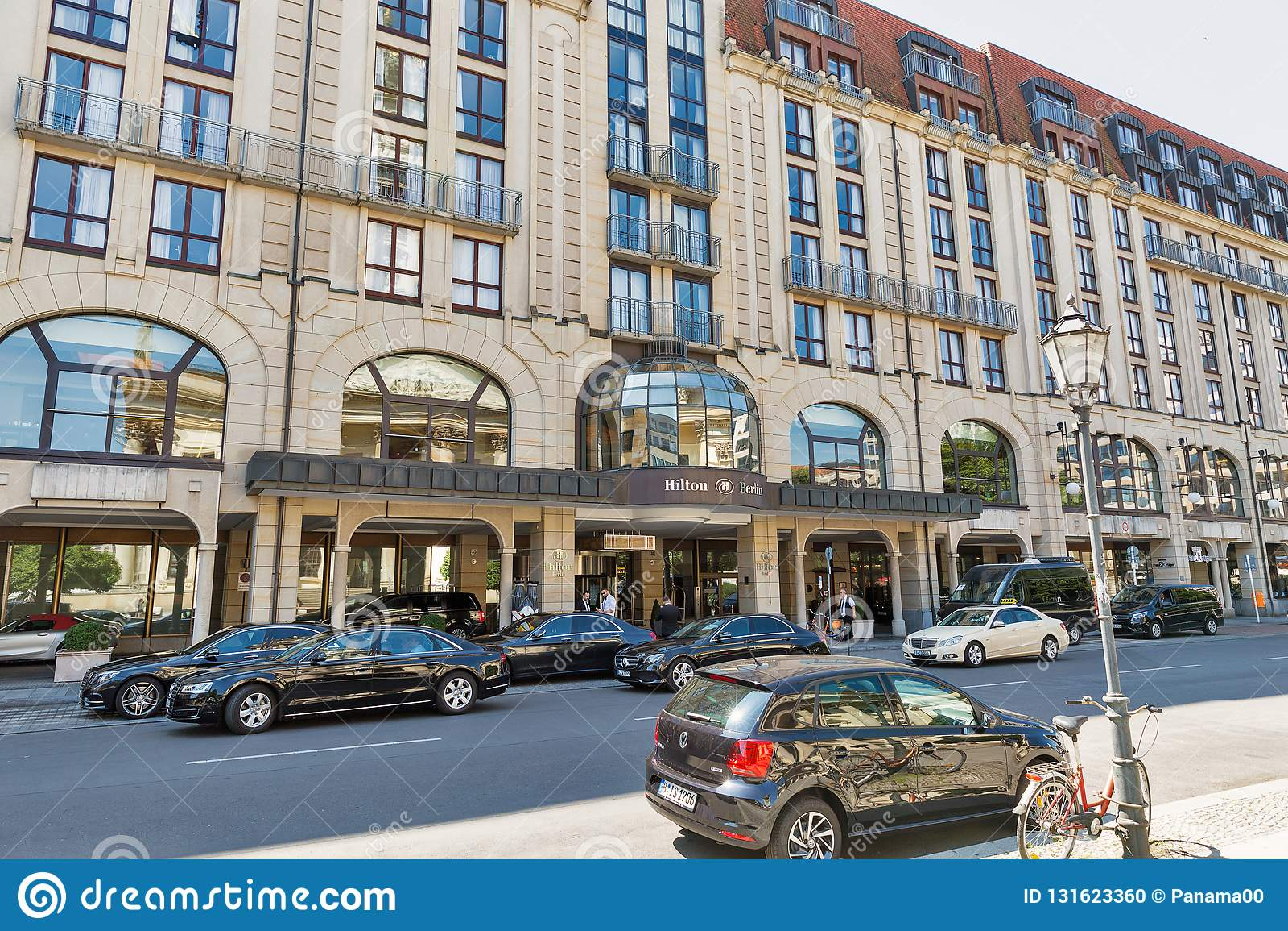 Berlijn Duitsland Juli 142018 Hilton Hotel Op Gendarmenmarkt