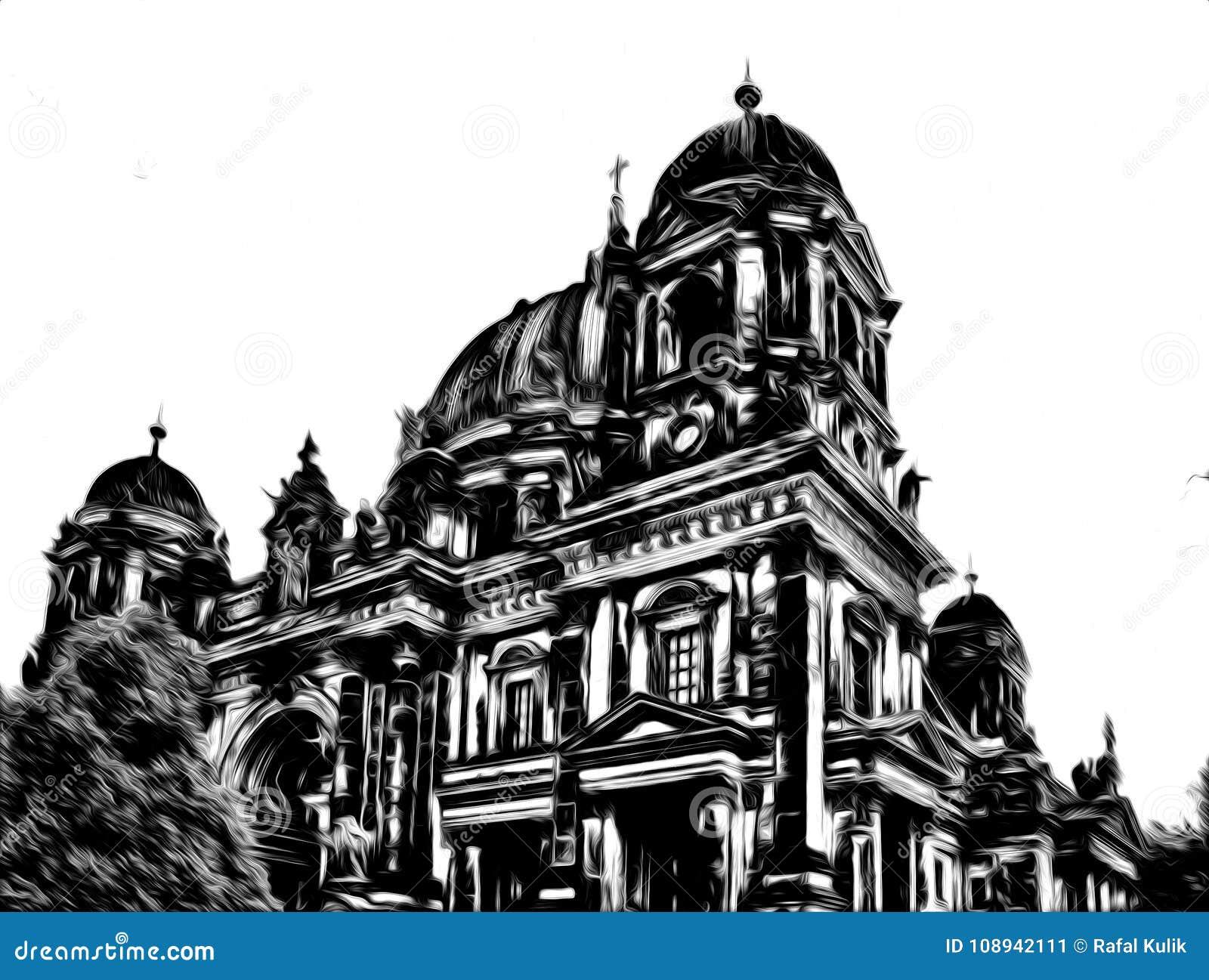 Berlin art design illustration black white