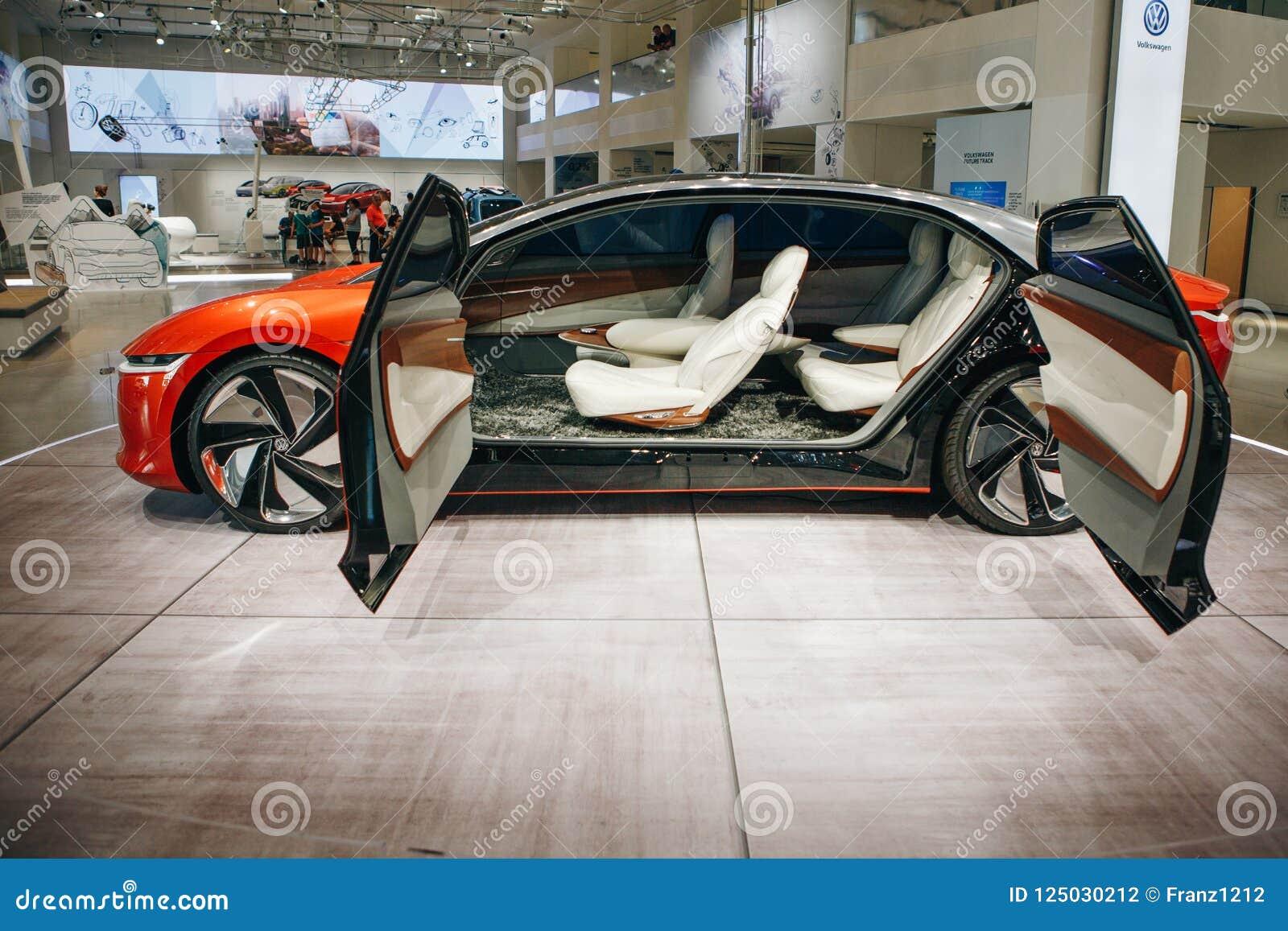 Interior Of The New Volkswagen I D Vizzion Concept Sedan Electric