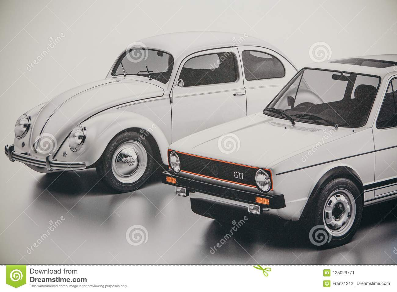 A Photo Of An Image Of Old Fashioned Cars Volkswagen Beetle And Jetta Editorial Photo Image Of Compact Archaic 125029771